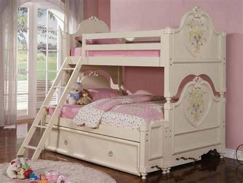 twin beds  sale doll house cream wood kids twin twin trundle bunk bed  sale