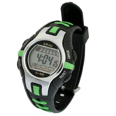 como black green plastic adjustable wristband digital
