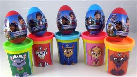 Paw Patrol Eggs Isi 4 learn colors with paw patrol new paw patrol eggs nick jr play doh cans