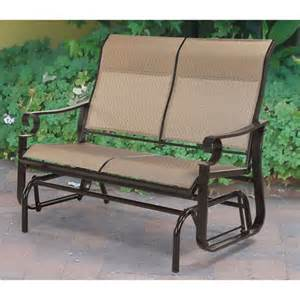 Gliding Patio Furniture by Valancia Sling Glider Seats 2 Patio Furniture Walmart Com