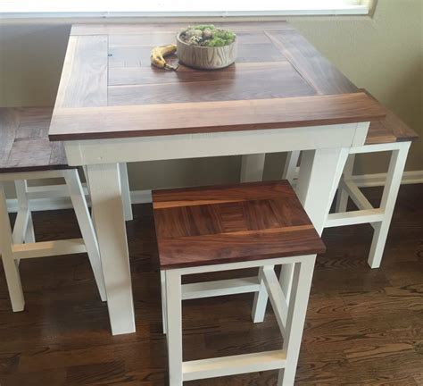 ana white bar height table  stools diy projects