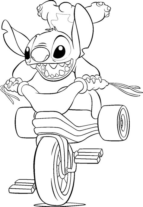 coloring pages free coloring pages of angel and stitch