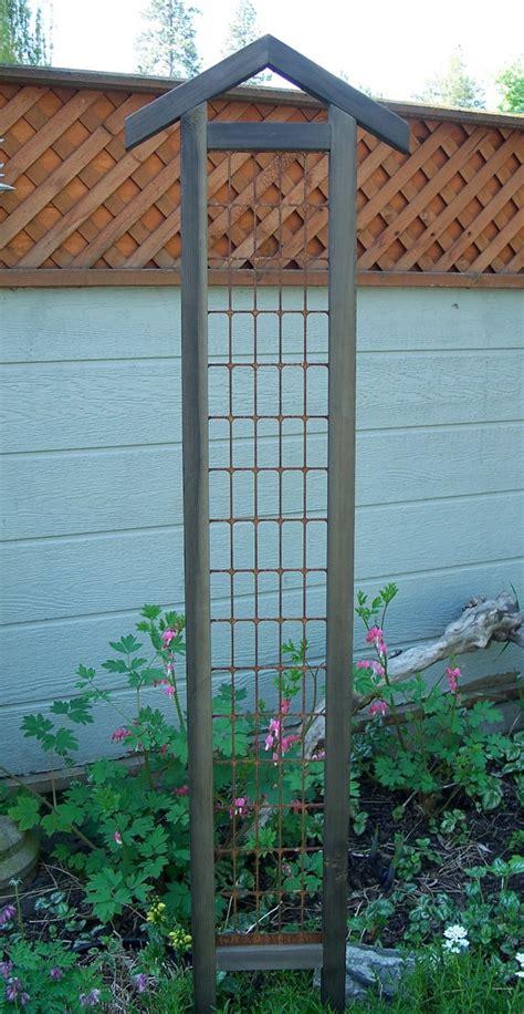 Trellis Art Garden Decor Trellis Steel And Cedar Garden Art Garden