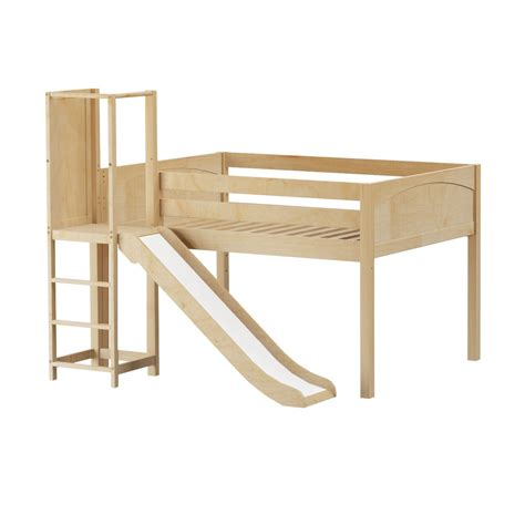 low loft bed with slide maxtrixkids salabim np low loft bed with slide