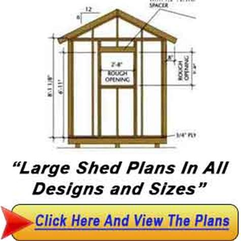 Large Shed Plans 34 215 36 Large Shed Plans Blueprints For Building A Big Shed