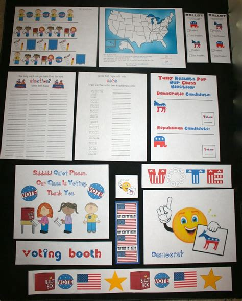 printable election bookmarks printable election ballots for kids just b cause