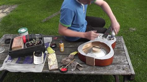 build an a frame home made resonator guitar build youtube
