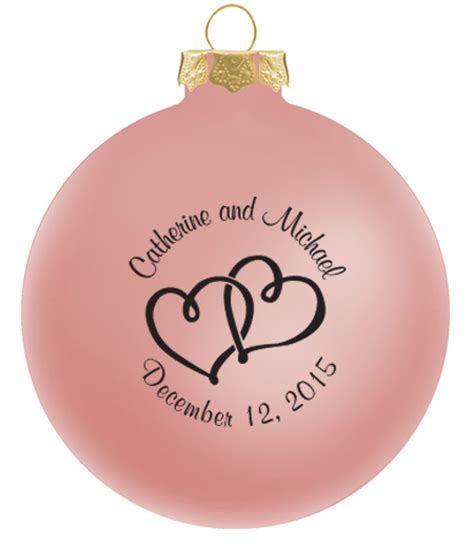 personalized christmas ornaments wedding favors