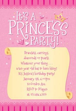 princess theme invitation template princess free birthday invitation template greetings island