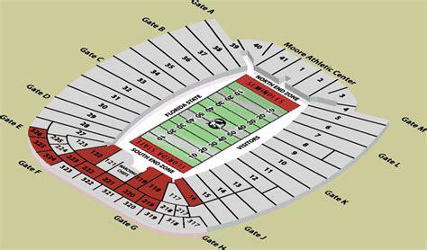 florida state stadium seating chart doak cbell stadium seating parking tallahassee