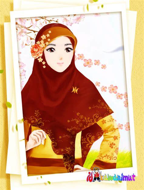 wallpaper animasi muslimah berjilbab koleksi gambar foto animasi muslimah bercadar terbaru 2018