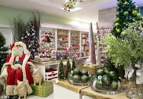 christmas trees at selfridges selfridges department store opens its floor daily mail