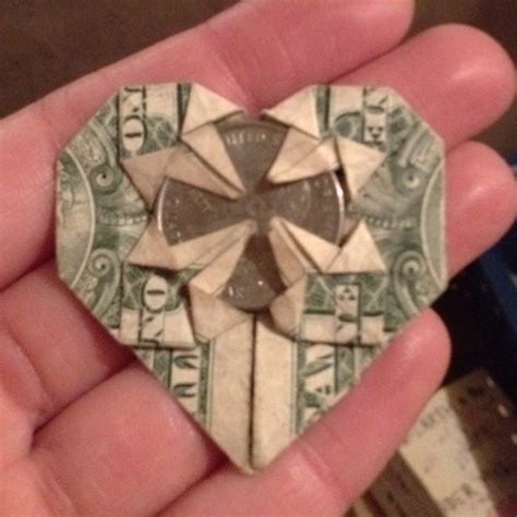 Money Origami With Quarter - 17 best images about dollar origami on dollar