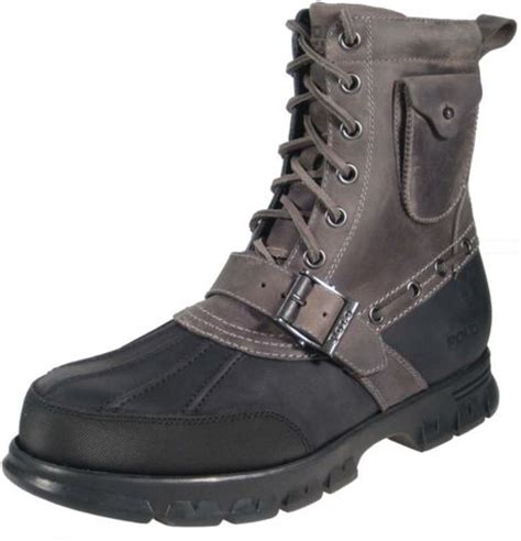 grey polo boots polo ralph hamlin lace up boot with pocket in gray