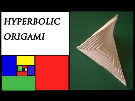 Hyperbolic Origami - how to make an origami hyperbolic paraboloid