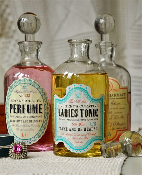 etiketten apothekerflaschen glass apothecary bottle perfume dotcomgiftshop
