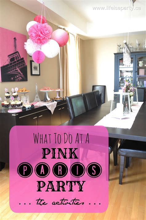 paris themed birthday decorations pink paris birthday party activities and decorations