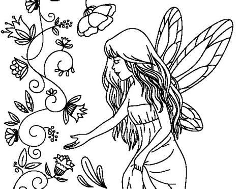 imagenes de hadas bonitas para dibujar dibujo para colorear de princesa hada y elfo