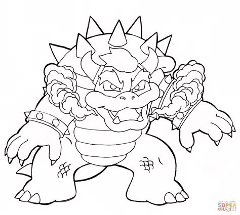mario coloring pages bowser jr bowser coloring page free printable coloring pages