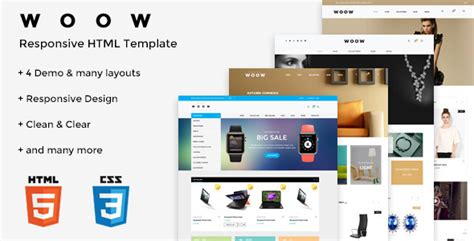 blogger ecommerce woow v1 0 html ecommerce template blogger template