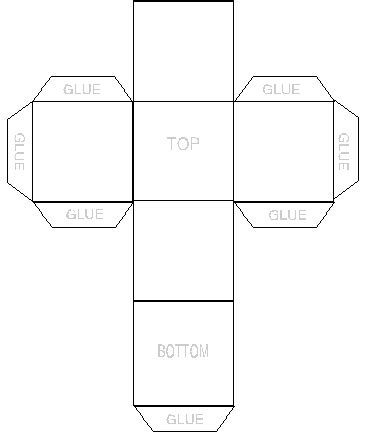 simple box template box templet pinterest boxes