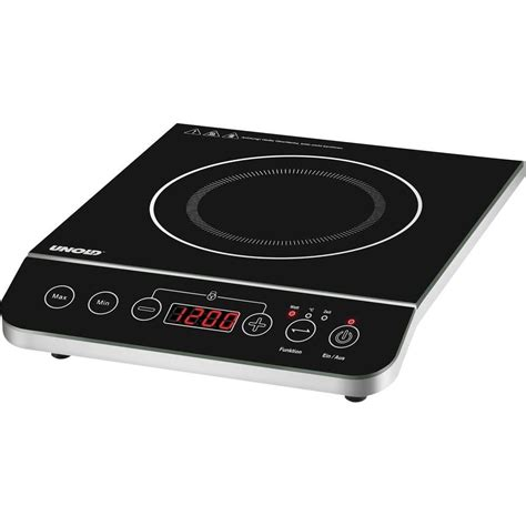 induction hob with pot size recognition temperature pre set timer fuction unold from conrad