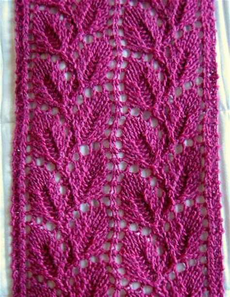 leaf pattern scarf liesel lace leaf scarf free pattern leaves and scarves