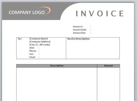 free service invoice template invoice templates invoice template