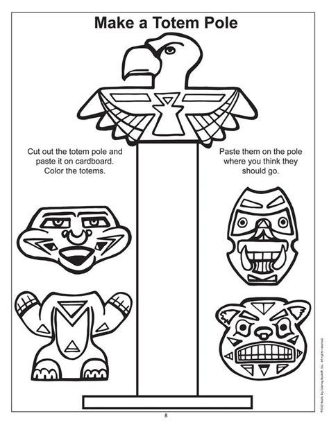 totem pole coloring page coloring home