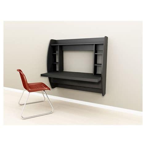 escritorios en target floating desk with storage black prepac target