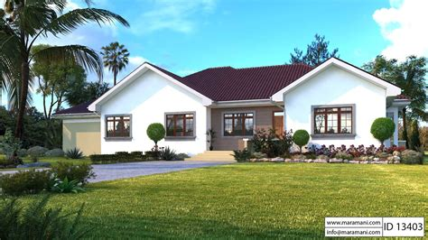 bedroom bungalow with garage id 13403 house plans by