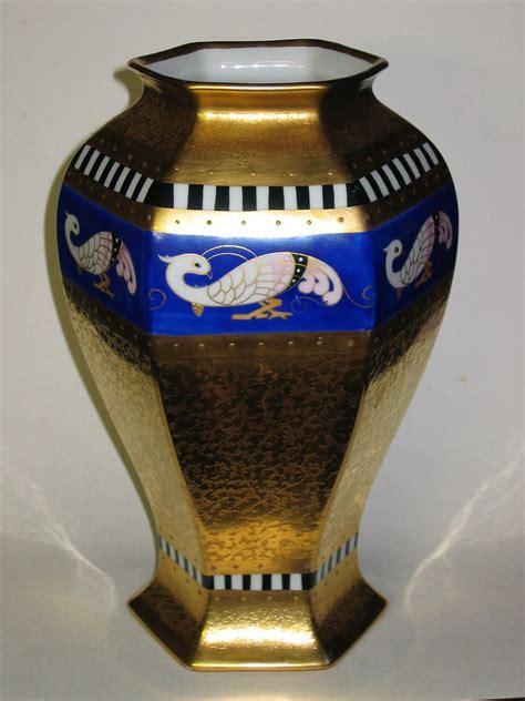large pickard painted quot bordure antique quot vase artist