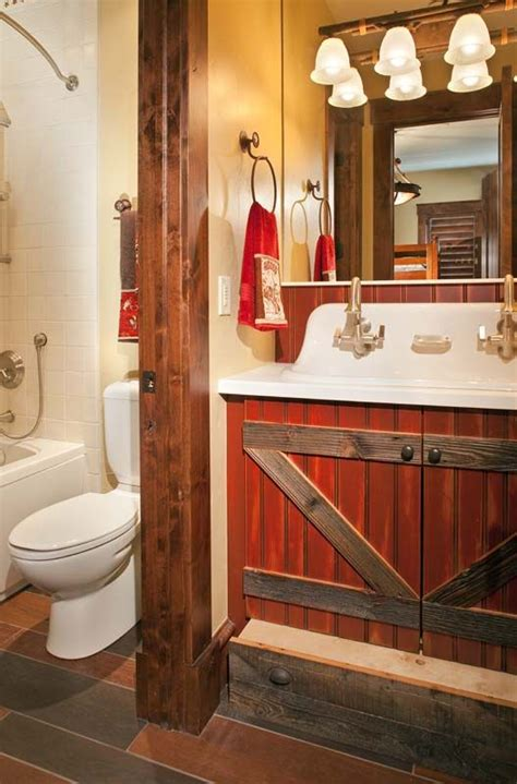 barn style bathrooms barn style bathroom quot we re building a house quot ideas