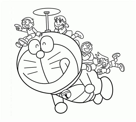 free coloring page doraemon doraemon and nobita coloring doraemon helicopter coloring