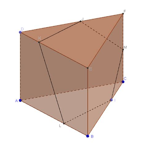 cross sectional area of hexagon a plane intersects a prism to form a cross section that is