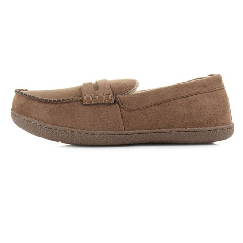moccasin loafer mens comfort faux suede moccasin loafer style slippers shu