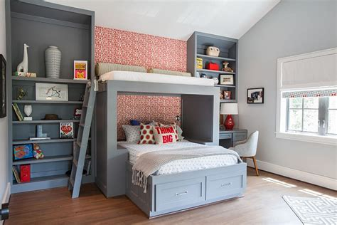 shelves for boys bedroom 25 cool kids bedrooms that charm with gorgeous gray