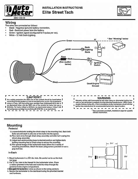 auto wiring diagram tachometer wiring diagram with