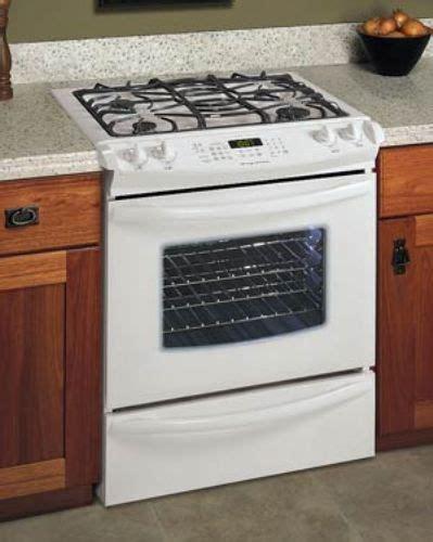 slide in range frigidaire glgs389fs gas slide in range white easyset 510 electronic oven with