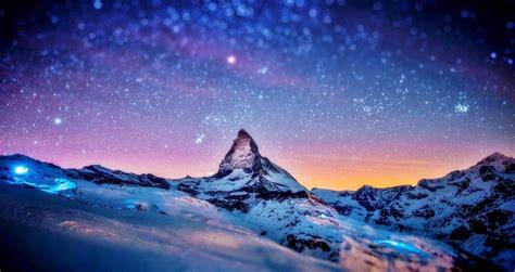 snow mountain wallpaper hd snow mountain  night