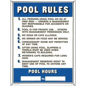 poolmaster residential  commercial swimming pool signs
