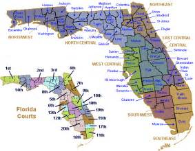 Florida Circuit Court Map by Google Images