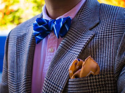 pattern shirt with bow tie houndstooth plaid striped bow tie polka dot pocket