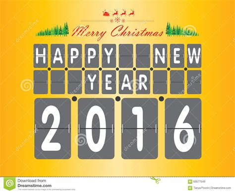 new year yellow tree happy new year 2016 the tree and santa claus on