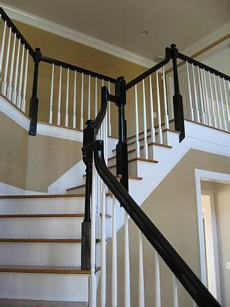 painting wood banister 1000 ideas about black banister on pinterest painted
