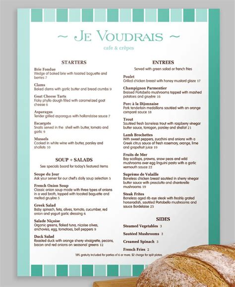 Menu Layout In French | 1000 images about french menus on pinterest fine dining