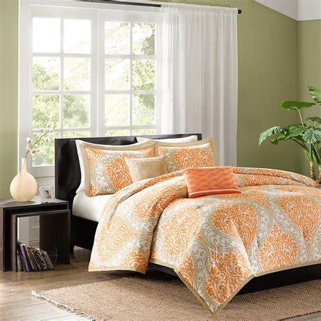 senna comforter set senna comforter set color orange size full queen