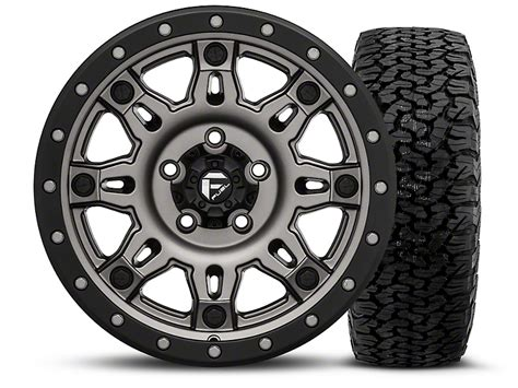 Bfgoodrich Sweepstakes - fuel wheels wrangler hostage iii gunmetal and black 17x9 wheel and bf goodrich all