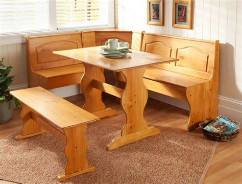 Kitchen Breakfast Nook Furniture Corner Furniture Table Bench Dining Set Breakfast Kitchen Nook Solid Pine Wood Ebay