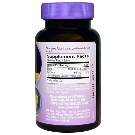 Promo Natrol Biotin Maximum Strength 10 000 Mcg 100 Tablets natrol biotin maximum strength 10 000 mcg 100 tablets